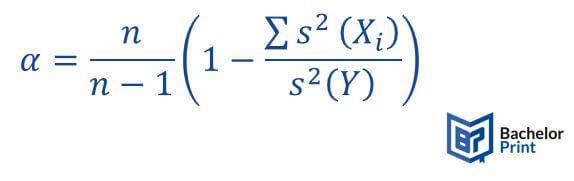 Cronbachs Alpha Formel